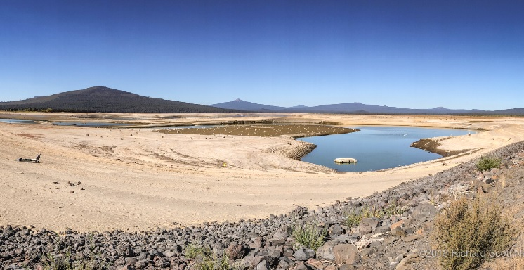 Wickiup Reservoir Tragedy –  Water Levels at Historic Lows – Down to 1%